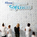 Kleenex pledge wall