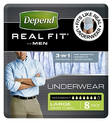 Depend coloured underwear